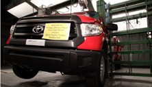 NCAP 2014 Toyota Tundra side pole crash test photo