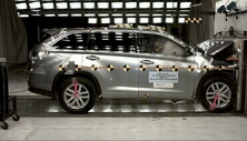2014 Toyota Highlander SUV FWD after frontal crash test