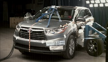 2014 Toyota Highlander SUV FWD after side crash test