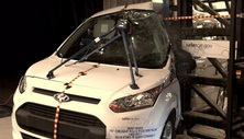 NCAP 2014 Ford Transit Connect side pole crash test photo