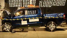 2014 Toyota Tundra PU/CC 4WD after frontal crash test