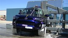 NCAP 2014 Toyota 4Runner side pole crash test photo