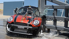 NCAP 2014 Mini Cooper side pole crash test photo