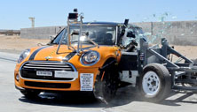 NCAP 2014 Mini Cooper side crash test photo