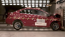 NCAP 2015 Chevrolet Sonic front crash test photo