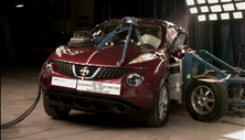 NCAP 2015 Nissan Juke side crash test photo