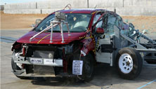 NCAP 2015 Nissan Versa side crash test photo