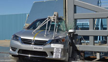 NCAP 2015 Honda Accord side pole crash test photo