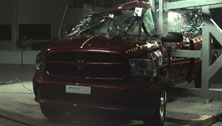 NCAP 2015 Ram 1500 side pole crash test photo