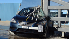 NCAP 2015 Nissan Sentra side pole crash test photo