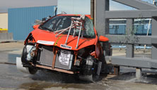 NCAP 2015 Toyota Prius c side pole crash test photo