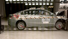 2015 Ford Fusion Energi 4 DR FWD after frontal crash test