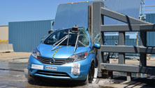 NCAP 2015 Nissan Versa side pole crash test photo
