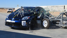 NCAP 2015 Toyota Prius side crash test photo
