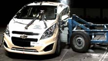 NCAP 2015 Chevrolet Spark side crash test photo