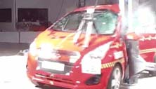 NCAP 2015 Chevrolet Spark side pole crash test photo