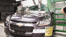 NCAP 2015 Chevrolet Malibu side pole crash test photo