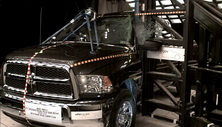 NCAP 2015 Ram 2500 side pole crash test photo