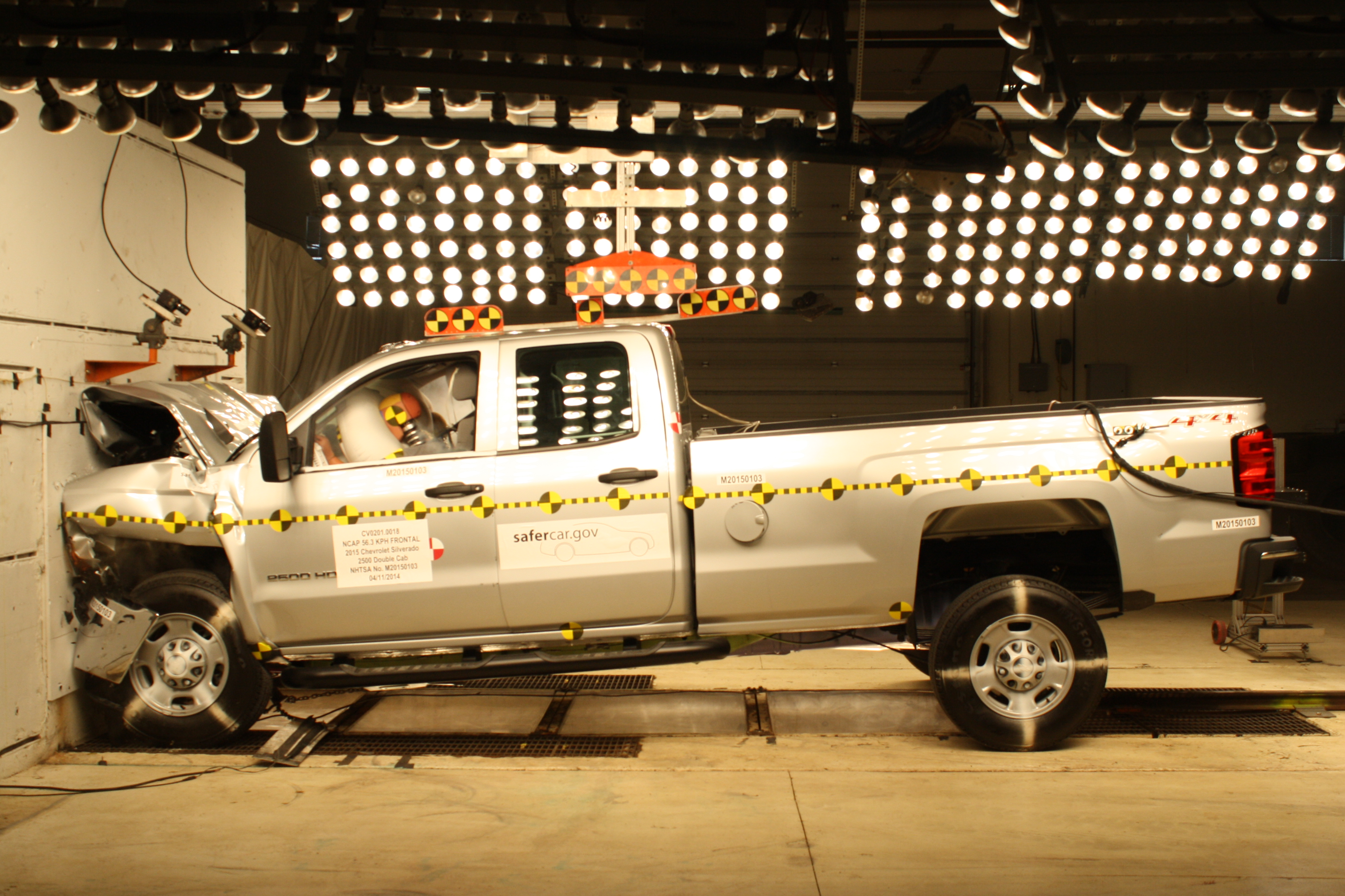 NCAP 2015 Chevrolet Silverado 2500 front crash test photo