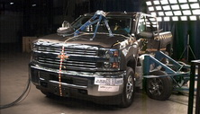 NCAP 2015 Chevrolet Silverado 2500 side crash test photo
