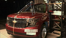 NCAP 2015 Chevrolet Suburban side pole crash test photo