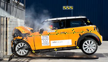 NCAP 2015 Mini Cooper front crash test photo