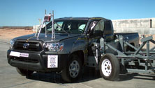 NCAP 2015 Toyota Tacoma side crash test photo