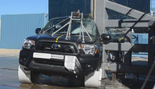 NCAP 2015 Toyota Tacoma side pole crash test photo