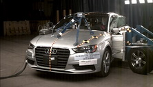 2015 Audi A3 4 DR AWD after side crash test