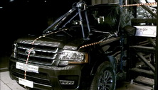 NCAP 2015 Ford Expedition side pole crash test photo