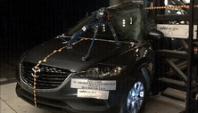 NCAP 2015 Mazda CX-9 side pole crash test photo