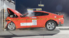 NCAP 2015 Ford Mustang front crash test photo