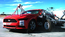 NCAP 2015 Ford Mustang side crash test photo