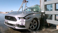 NCAP 2015 Ford Mustang side pole crash test photo