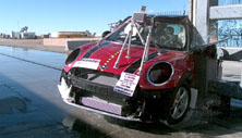 NCAP 2015 Mini Cooper side pole crash test photo
