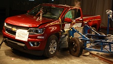 NCAP 2015 Chevrolet Colorado side crash test photo