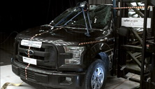 NCAP 2015 Ford F-150 side pole crash test photo