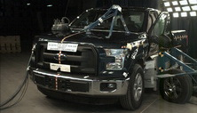 NCAP 2015 Ford F-150 side crash test photo
