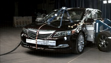 2015 Acura RLX 4 DR FWD after side crash test