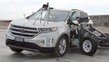 2015 Ford Edge SUV AWD after side crash test