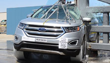 2015 Ford Edge SUV AWD after side pole crash test