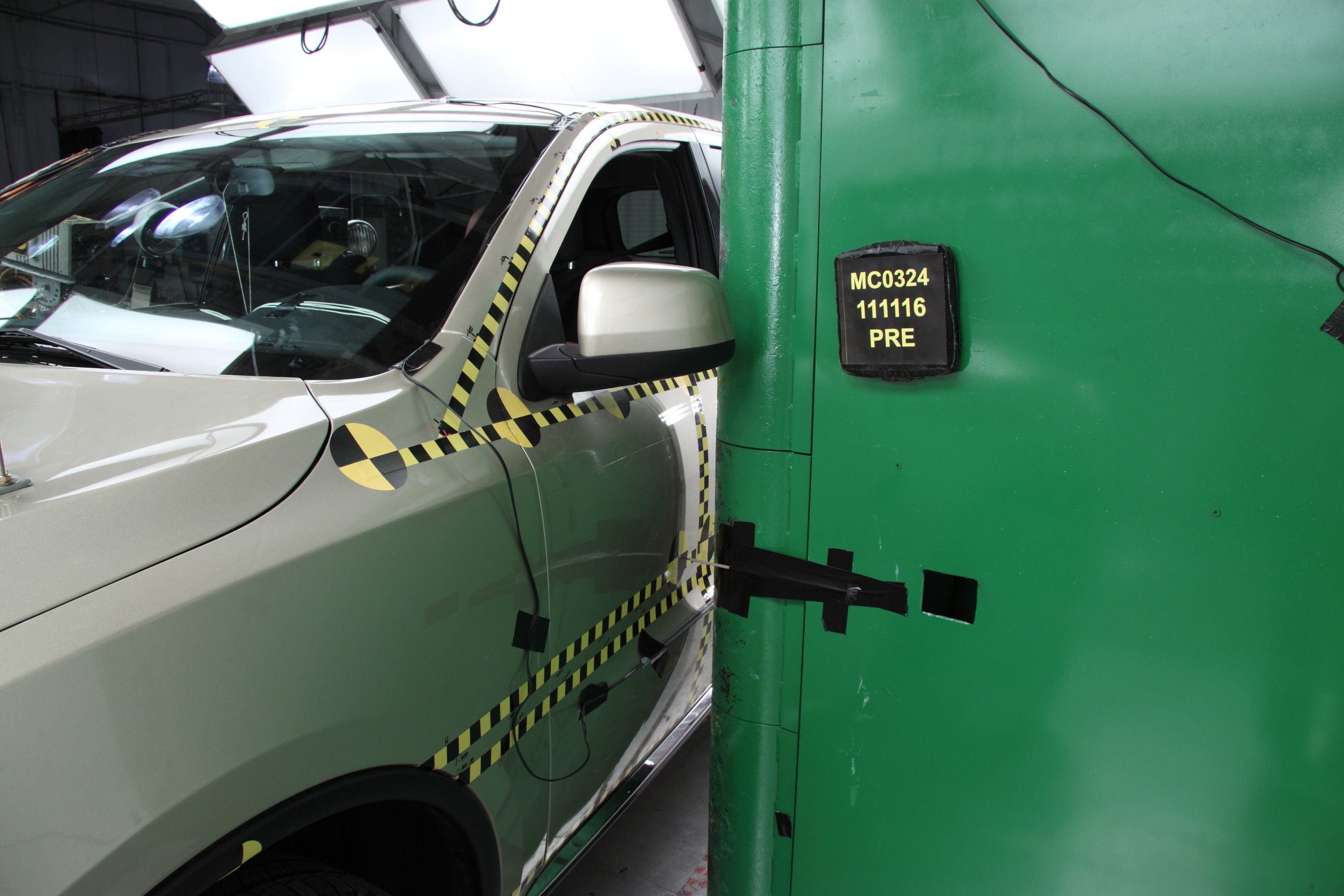 NCAP 2016 Dodge Durango side pole crash test photo