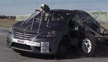 NCAP 2016 Nissan Sentra side crash test photo