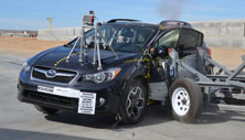NCAP 2016 Subaru Crosstrek Hybrid side crash test photo