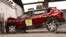 NCAP 2016 Jeep Cherokee front crash test photo