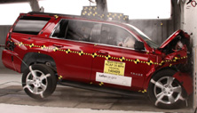 NCAP 2016 Chevrolet Tahoe front crash test photo