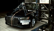 NCAP 2016 Audi A3 side pole crash test photo