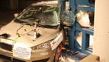NCAP 2016 Ford Focus side pole crash test photo