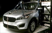 NCAP 2016 Kia Sorento side pole crash test photo