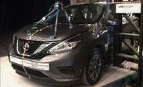 NCAP 2016 Nissan Murano side pole crash test photo